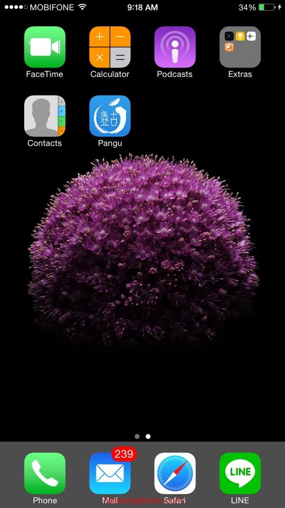 Hướng dẫn cài Cydia cho iPhone 5s/6s/6sPlus lock