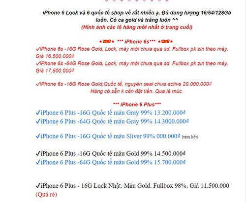 Giá Iphone 6s bản lock Nhật 16gb 64gb 128gb hiện nay bao nhiêu