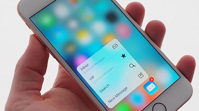 tính năng 3D touch trên iPhone 6s