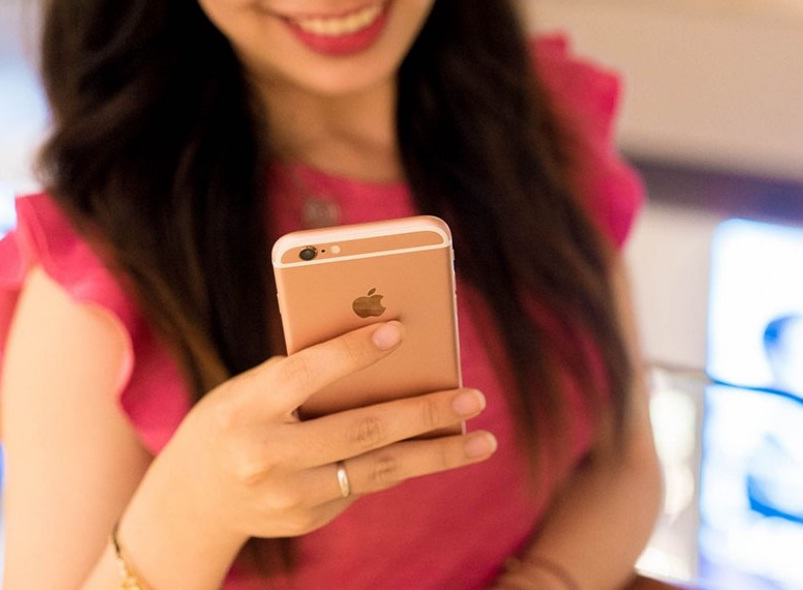 iPhone 6s xách tay màu vàng hồng