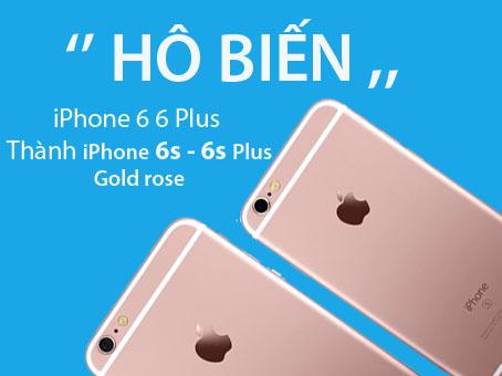 Thay vỏ iPhone 6 thành iPhone 6s màu vàng hồng