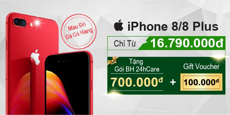 iPhone 8/8 Plus đỏ(Red) tại 24hstore.vn