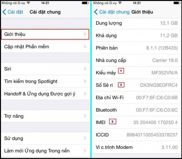 Mẹo phân biệt điện thoại iPhone 8 xách tay 64 Gb với hàng công ty 5