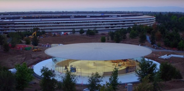 apple-park-drone-steve-jobs-theater