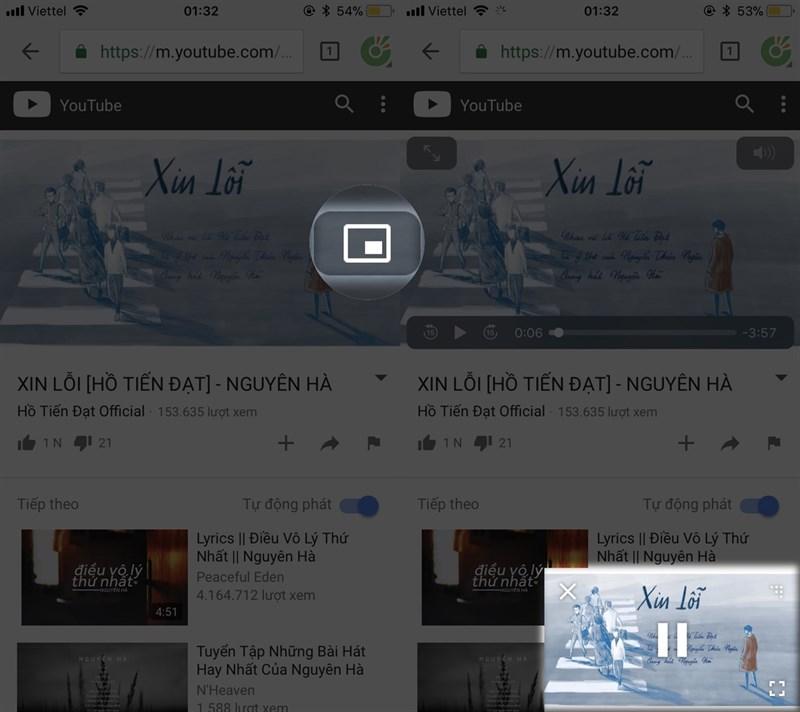 Cách vừa xem Youtube vừa lướt Web, Facebook trên iOS rất đơn giản hình 3