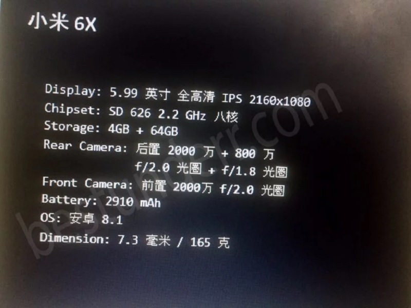 Xuat Hien Cau Hinh Cua Xiaomi Mi A2 Mi 6x 02