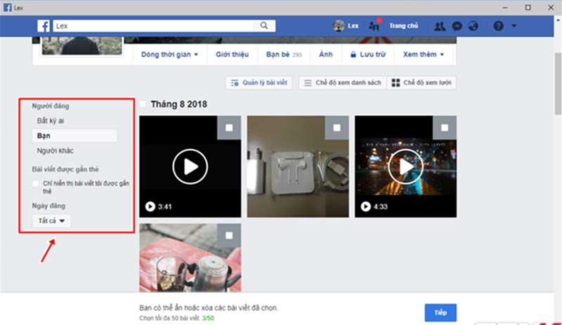 Xoa Nhieu Bai Viet Cung Mot Luc Voi Tinh Nang Moi Cua Facebook 03