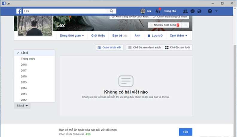 Xoa Nhieu Bai Viet Cung Mot Luc Voi Tinh Nang Moi Cua Facebook 05