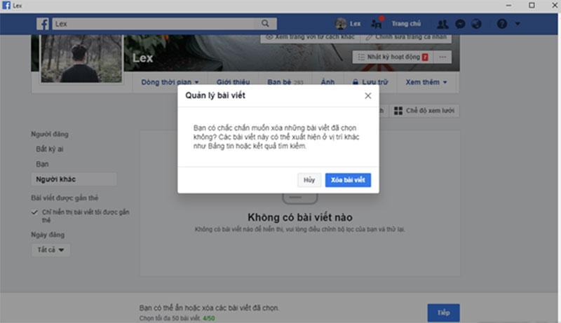 Xoa Nhieu Bai Viet Cung Mot Luc Voi Tinh Nang Moi Cua Facebook 08