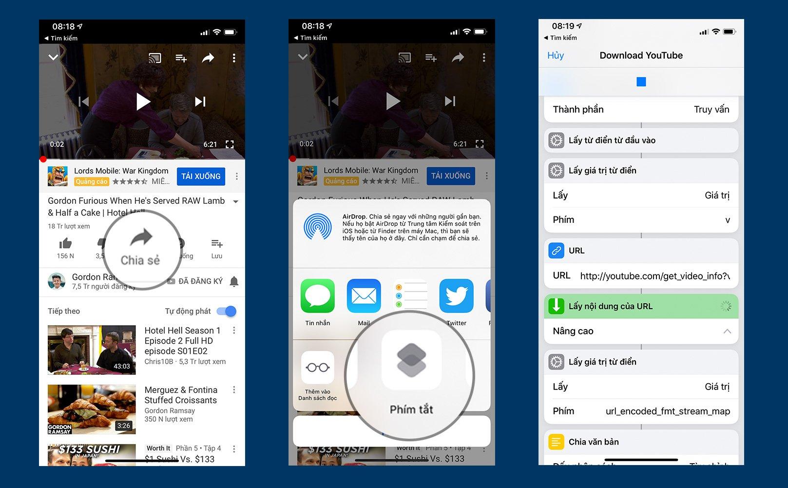 Huong Dan Cach Dung Siri Shortcut De Download Video Youtube 03