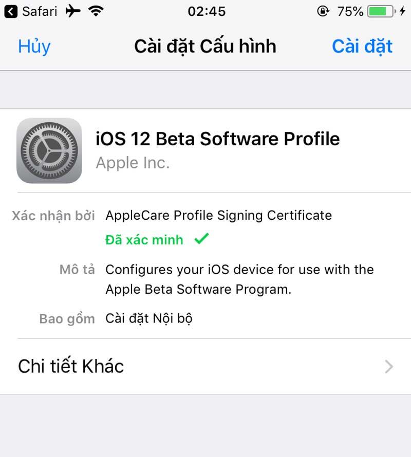 Huong Dan Cap Nhat Phien Ban Ios 12 4 Beta 05