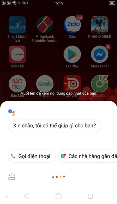 Kiem tra Google Assistant Tieng Viet Tren Androi